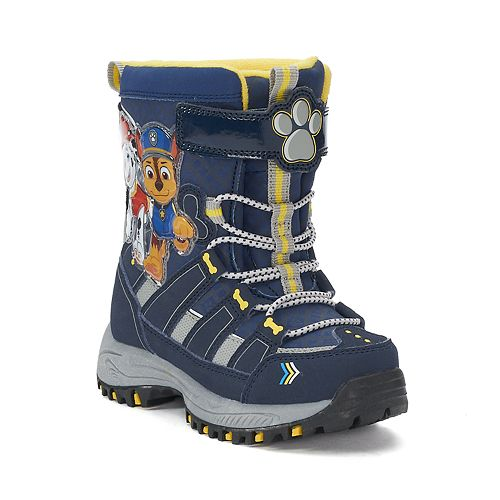 700f5633a94f Paw Patrol Chase   Marshall Toddler Boys  Water Resistant Light Up Winter  Boots