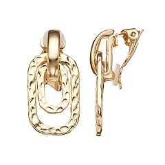Dana Buchman Textured Orbital Clip-On Earrings