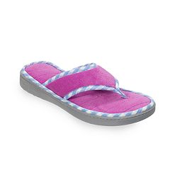 Women's Dearfoams Microfiber Terry Thong Slippers