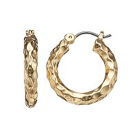 Dana Buchman Wavy Texture Hoop Earrings