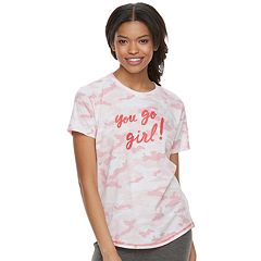 Juniors' SO® Graphic Crewneck Pajama Tee