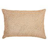 Inspire Me! Home Decor Beaded Lattice Oblong Throw Pillow