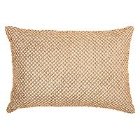 Inspire Me! Home Decor Beaded Lattice Oblong Throw Pillow