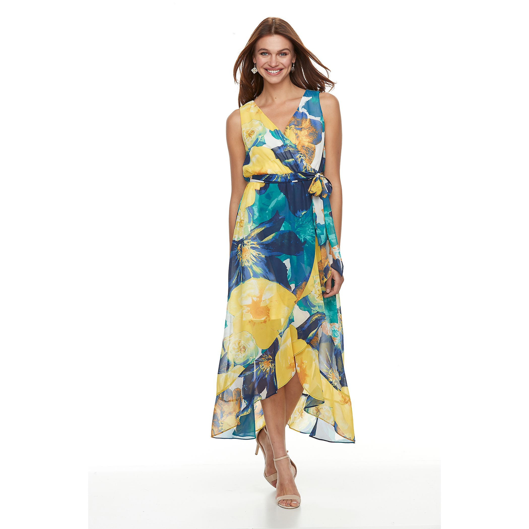 Petite Chaya Floral High Low Maxi Dress