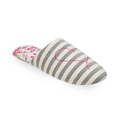 Women's Dearfoams Heart Scuff Slippers & Eye Mask Set