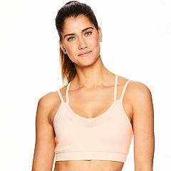 Gaiam Shine Strappy Mesh Low-Impact Sports Bra GAW183BR17K