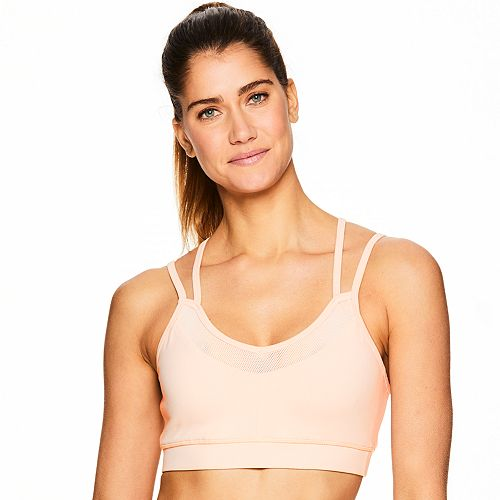 73af6c9eab Gaiam Shine Strappy Mesh Low-Impact Sports Bra GAW183BR17K