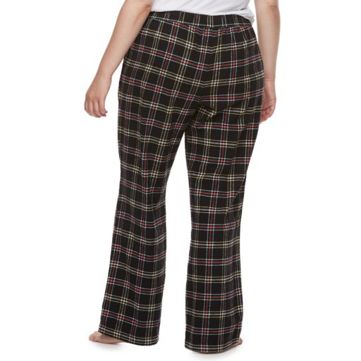Juniors' Plus Size SO® Flannel Plaid Pajama Pants