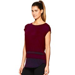Women's Gaiam Naomi Mesh Trim Tee