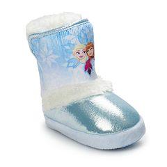 Disney's Frozen Elsa & Anna Toddler Girls' Slipper Boots