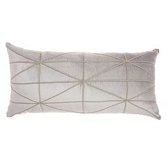 Inspire Me! Home Decor Embellished Crisscross Oblong Throw Pillow