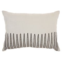 Inspire Me! Home Decor Beaded Triangle Oblong Throw Pillow