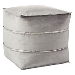 Inspire Me! Home Decor Pleated Leather Pouf