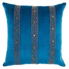 Inspire Me! Home Decor Beaded Stripes Throw Pillow