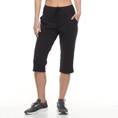 Petite Tek Gear® Drawstring Straight-Leg Capris
