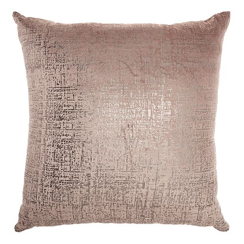 Inspire Me! Home Decor Distressed Metallic Throw Pillow