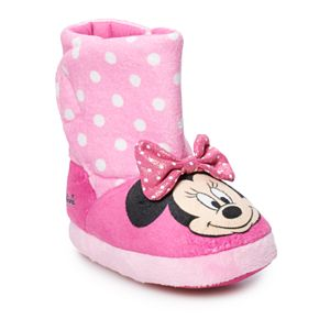 Disney's Minnie Mouse Toddler Girls' Slipper Boots
