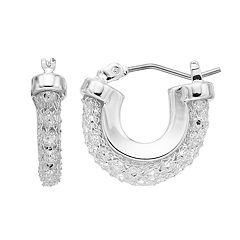 Dana Buchman Mesh Chain Hoop Earrings