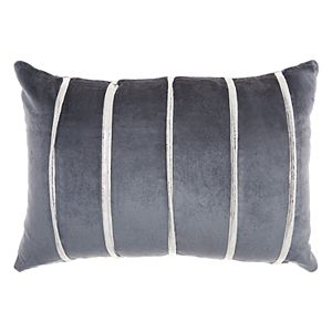 Inspire Me! Home Decor Pleated Stripes Oblong Throw Pillow