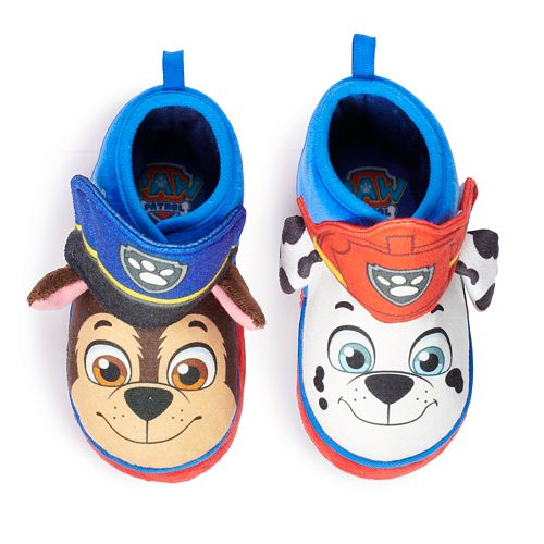 Paw Patrol Chase & Marshall Toddler Boy's Slipper Boots