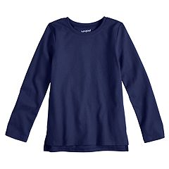 Girls 4-10 Jumping Beans® Solid Long Sleeve Tee