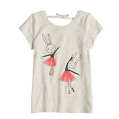 Girls 4-10 Jumping Beans® Tie Back Graphic Tee