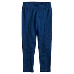 Girls 4-10 Jumping Beans® Moto Faux-Denim Leggings