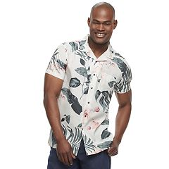 Men's Marc Anthony Slim-Fit Resort Pattern Woven Button-Down Shirt