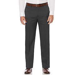 Big & Tall Savane Straight-Fit Crosshatch Stretch Flat-Front Dress Pants