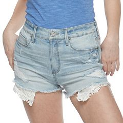 Juniors' Mudd® Distressed Jean Shorts