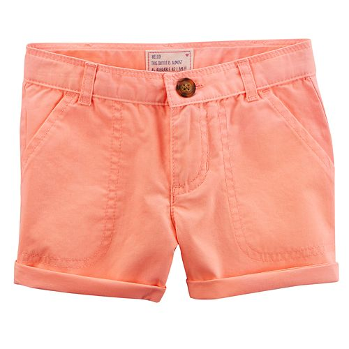 Girls 4-8 Carter's Roll Cuff Shorts
