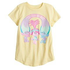 DreamWorks Trolls Poppy, Chenille & Satin Girls 4-10 Graphic Tee by Jumping Beans®