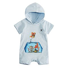 Baby Boy Hurley Hooded Romper