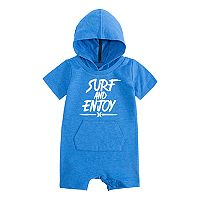 Baby Boy Hurley Surf Hooded Romper