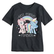 "Girls 4-10 Jumping Beans® My Little Pony Pinkie Pie & Rainbow Dash ""Best Friends Forever"" Glitter Graphic Tee"
