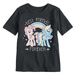 Girls 4-10 Jumping Beans® My Little Pony Pinkie Pie & Rainbow Dash 'Best Friends Forever' Glitter Graphic Tee