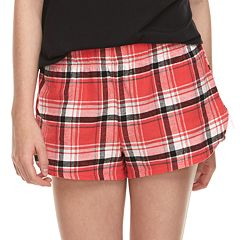 Juniors' SO® Flannel Plaid Pajama Shorts
