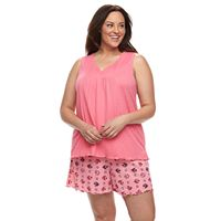 Plus Size Croft & Barrow® Gauze Tank & Shorts Pajama Set