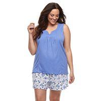 Plus Size Croft & Barrow® Gauze Tank & Shorts Pajama Set