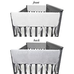 TL Care Heavenly Soft 2-Pack Chenille Reversible Short Rail Crib Cover