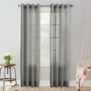 No 918 1-Panel Emily Sheer Voile Grommet Window Curtain