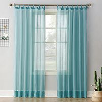 No 918 Emily Sheer Voile Tab Top Window Curtain