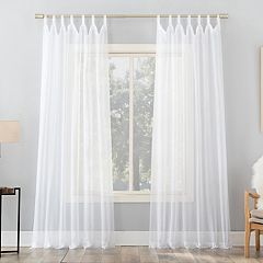 No 918 1-Panel Emily Sheer Voile Tab Top Window Curtain