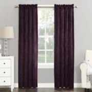 Sun Zero Blackout 1-Panel Cassidy Velvet Window Curtain