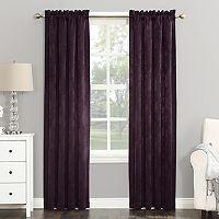 Sun Zero Cassidy Velvet Blackout Window Curtain