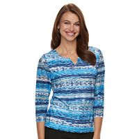 Women's Napa Valley Embellished Print Top