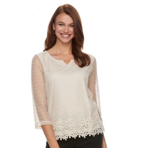 Women's Napa Valley Floral Lace Top