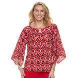 Women's Dana Buchman Print Kimono-Sleeve Top