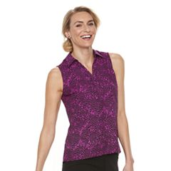 Women's Dana Buchman Sleeveless Splitneck Top