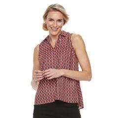 Women's Dana Buchman Sleeveless Splitneck Top